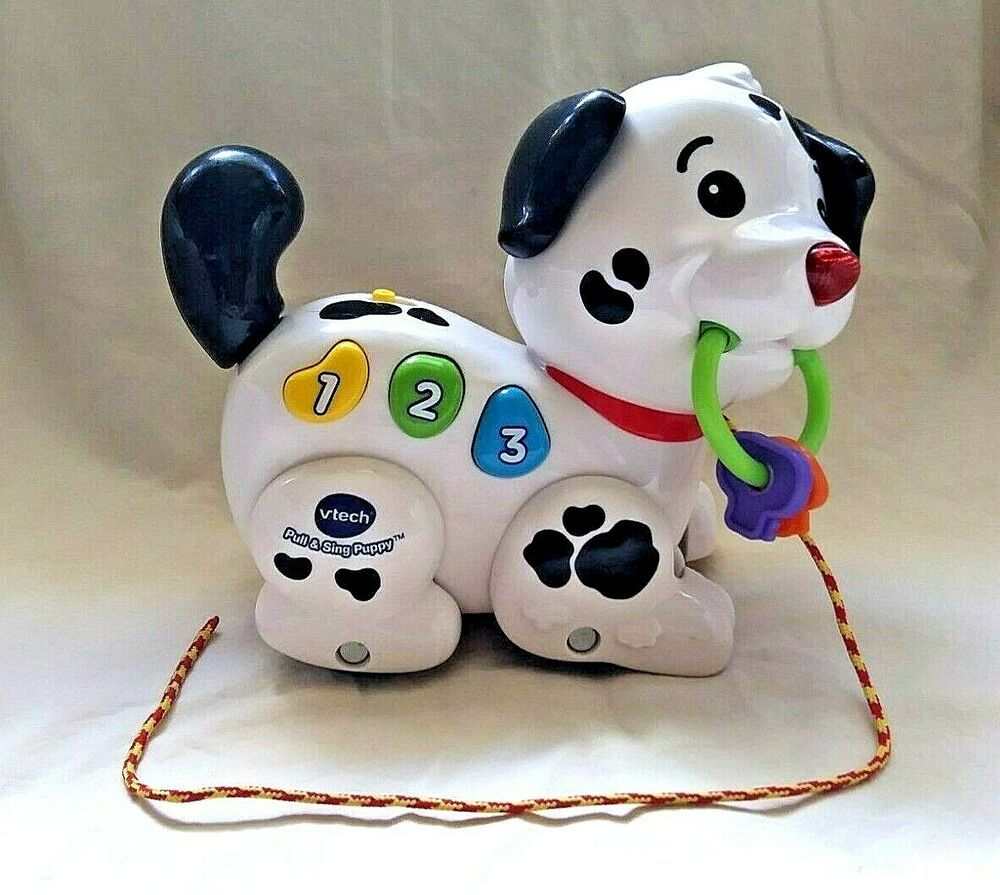 Details About Vtech Pull Sing Puppy Dog Interactive Learning Toy