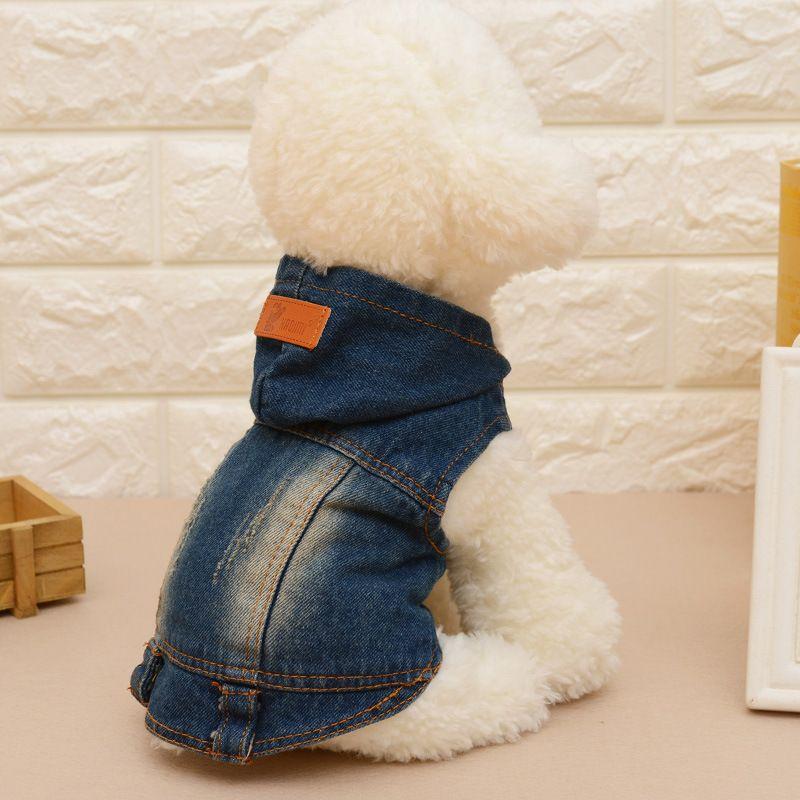 1e7615e369 Fashion Spring Autumn Jeans Small Medium Dog Clothes Denim Dog Jeans Coat  Cowboy Pet Puppy Dog Jacket small dog clothes  Affiliate