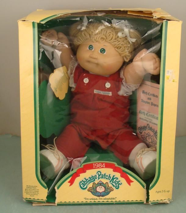 Cabbage Patch Kid 1984 Vintage Girl Doll Mib In Box Cabbage Patch Kids Cabbage Patch Dolls Vintage Cabbage Patch Dolls