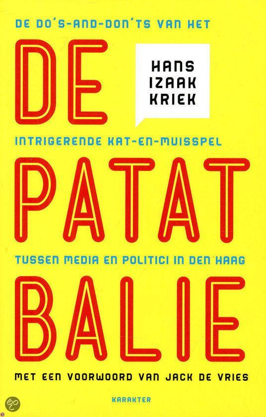 De Patatbalie Hans Izaak Kriek 9789045204666 Boeken Boeken Haan Boekomslag