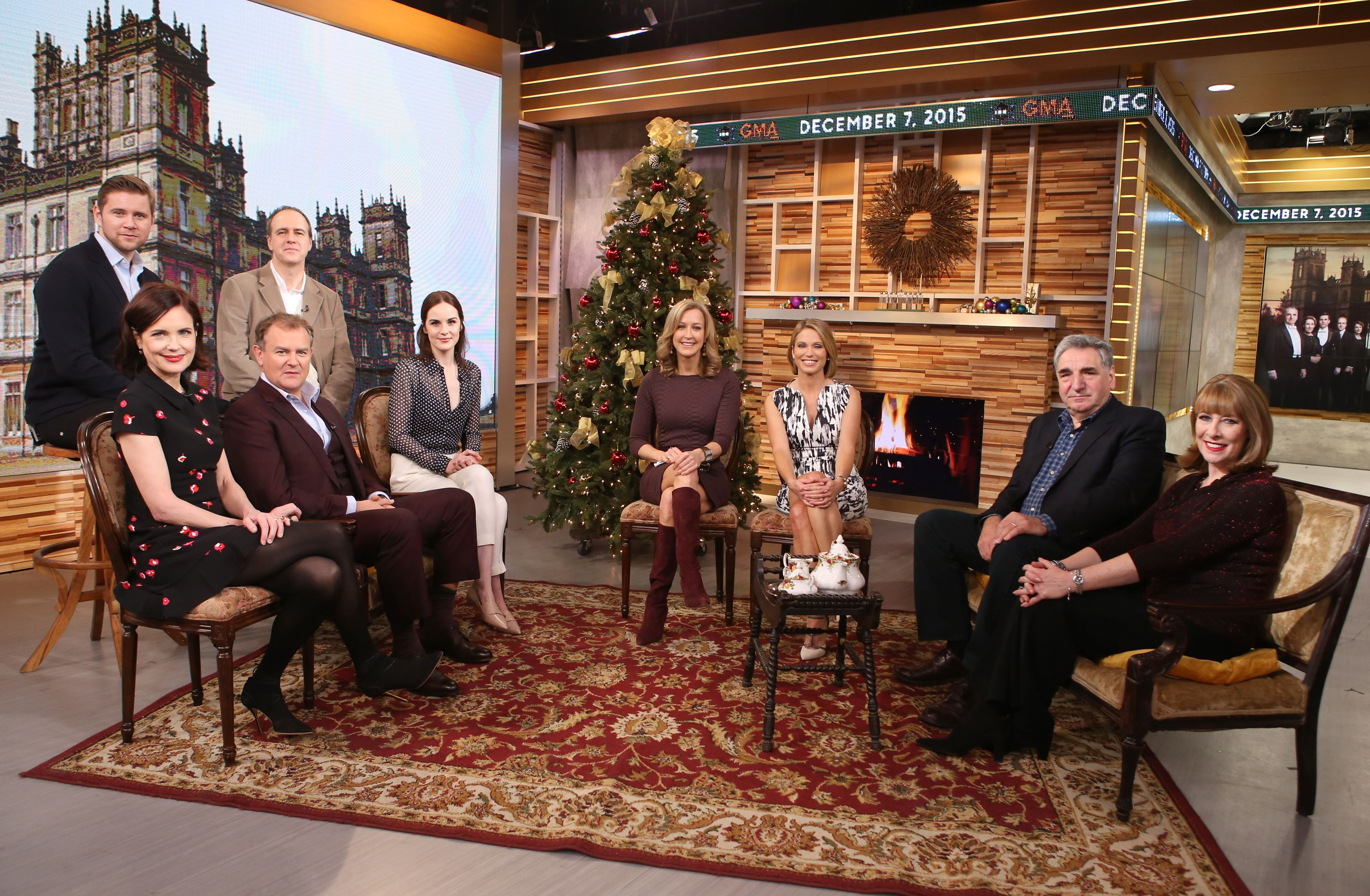 Downton Cast at Good Morning America Dec 2015