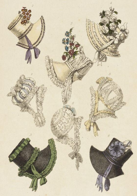 1817 January, London. Parisian Head Dresses Rudolph Ackermann ...