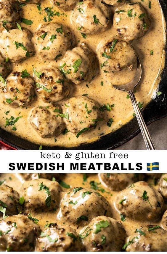 Gluten Free & Keto Swedish Meatballs  #ketorecipesforbeginners