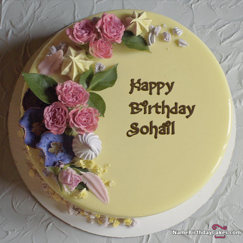 Happy Birthday Sohail Cake Images Download Share Birthdays