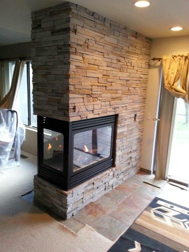 Peninsula Fireplaces With Stone Hhdu
