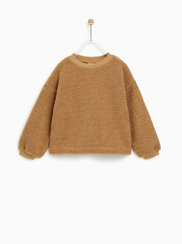 en venta 6698c 87d50 SUDADERA BORREGUILLO BRILLO   invierno in 2019   Zara outfit ...