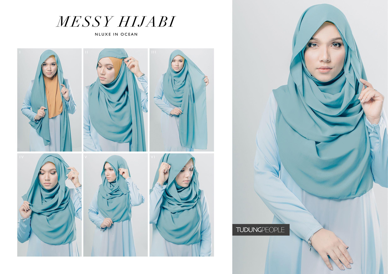 MESSY HIJABI Hijab Tutorial Featuring TudungPeople Numa Luxe 2.0 Hijab in Ocean