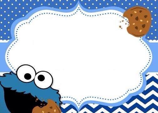 Invitación cookie monster | Birthday Ideas | Pinterest | Cookie ...