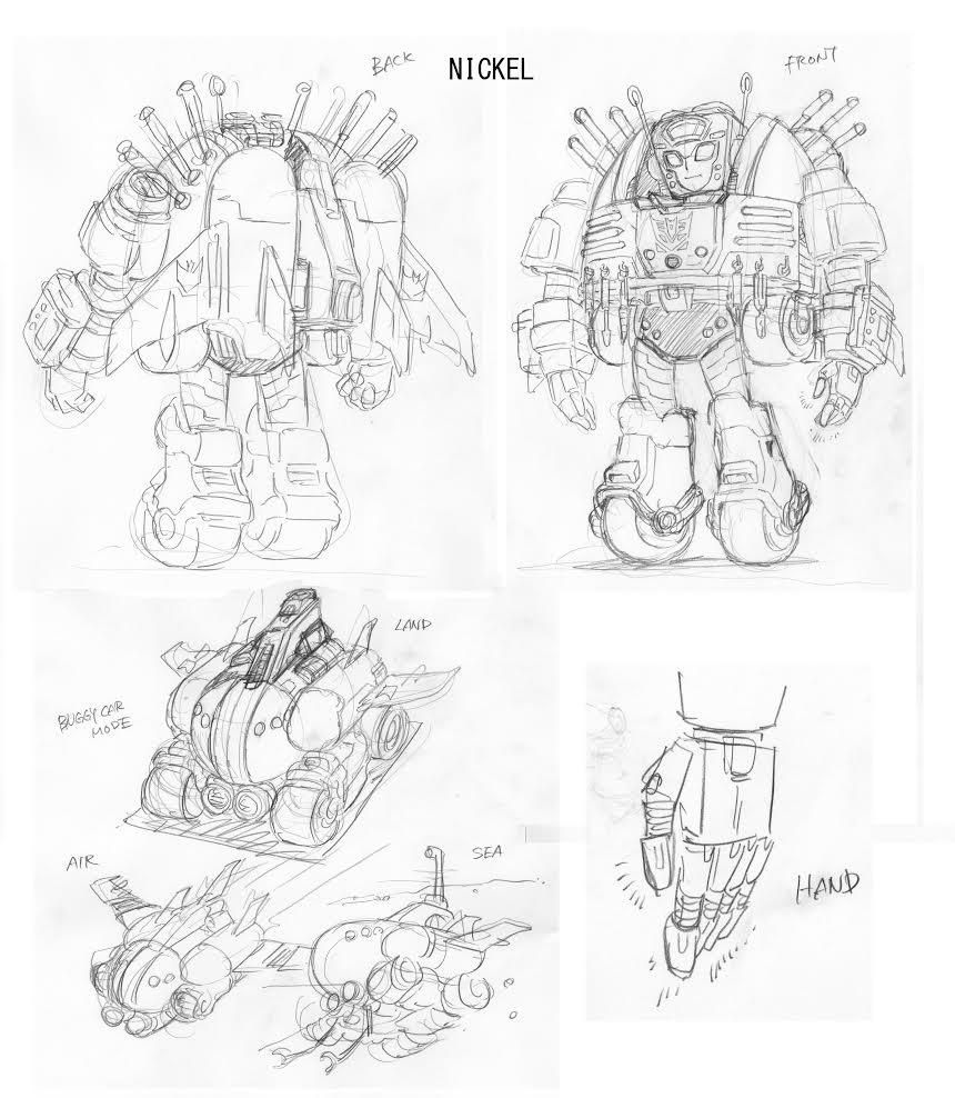 Transformers News: IDW MTMTE #39 Nickel Concept Designs by