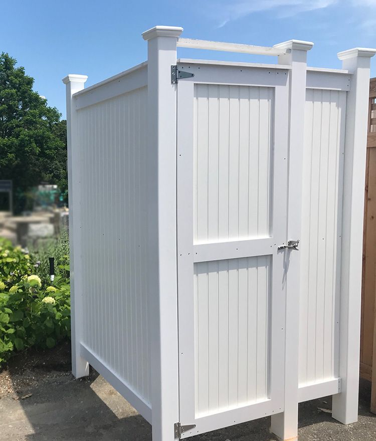 Cedar Outdoor Shower Standard Free Standing With Images