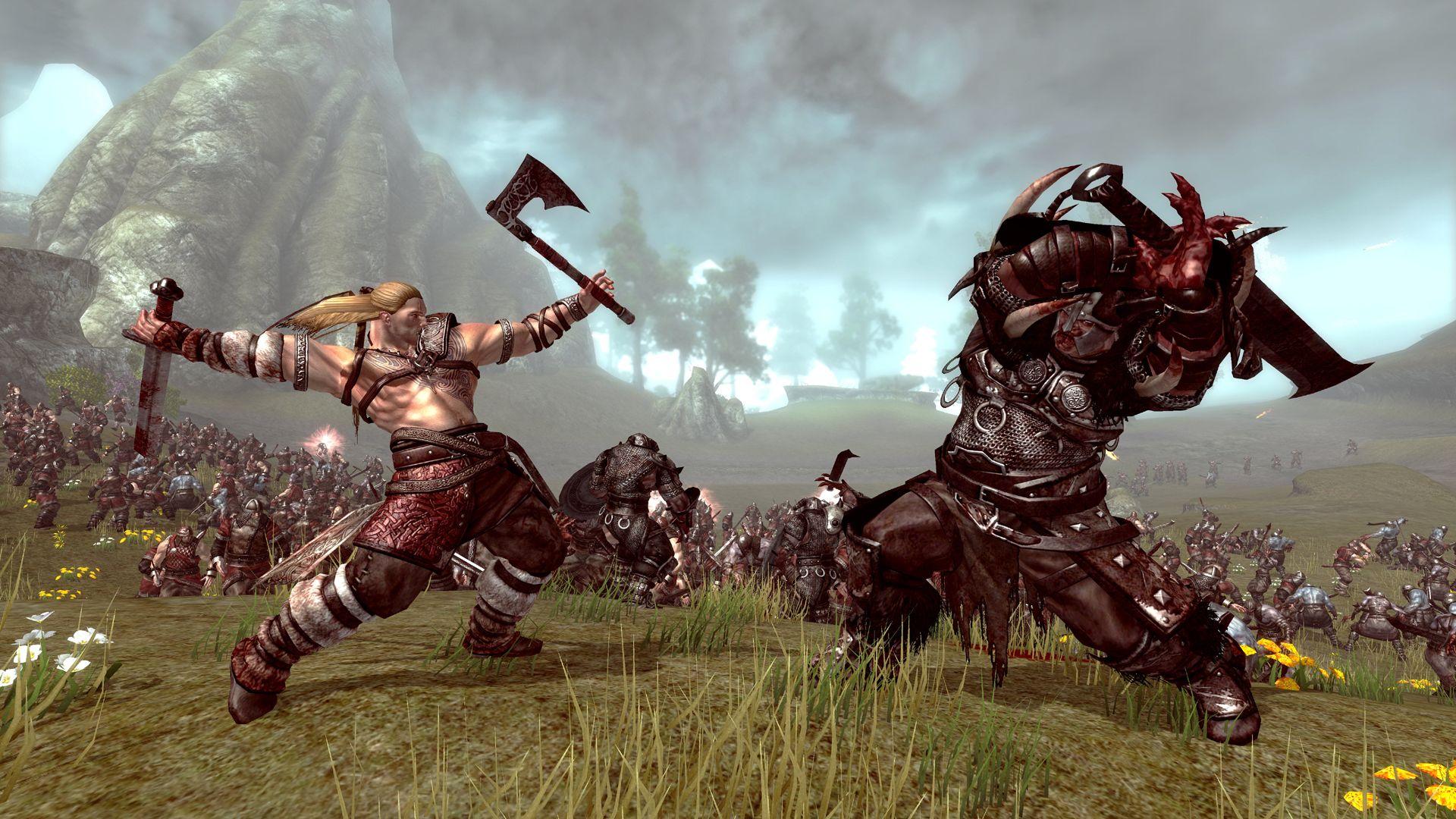 Viking Battle for Asgard video fantasy warrior battle