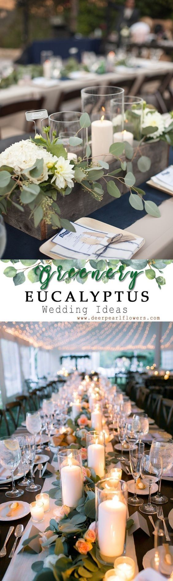 Wedding decorations on tables   Greenery Eucalyptus Wedding Decor Ideas  Interior addict