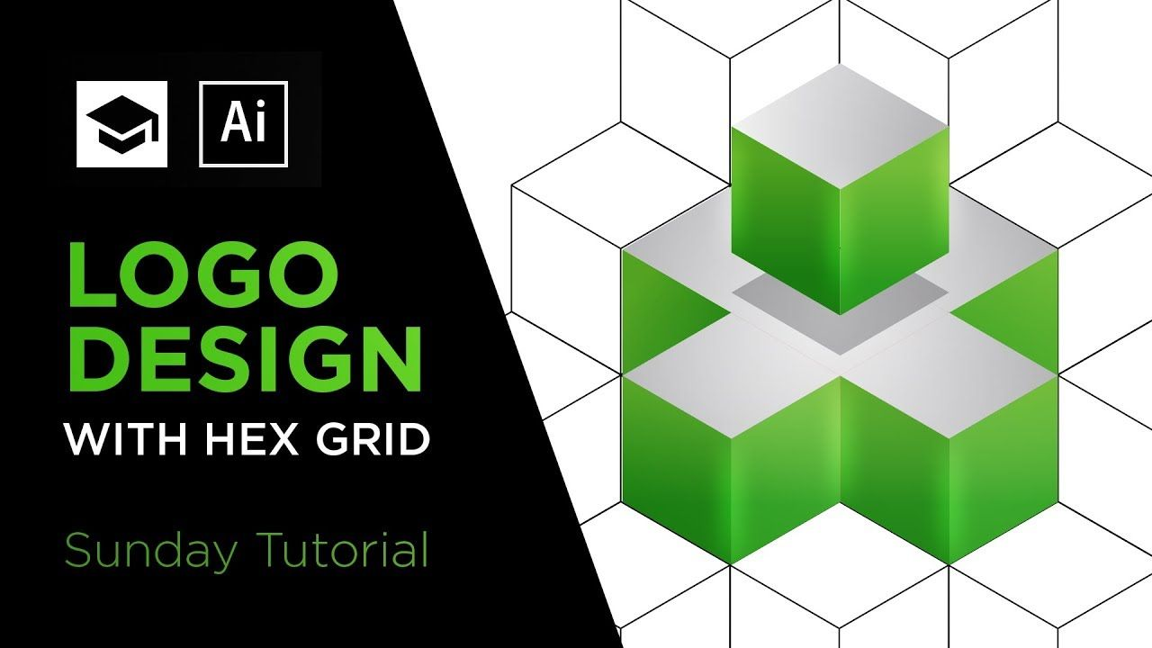 How to design a 3D logo with Hex Grid Adobe Illustrator