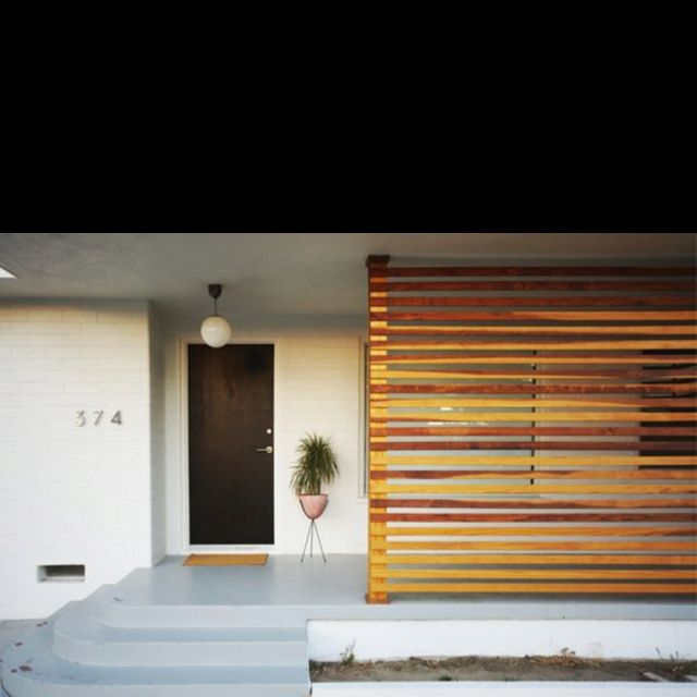 Privacy Screen In An Entryway Via House Hold House Exterior