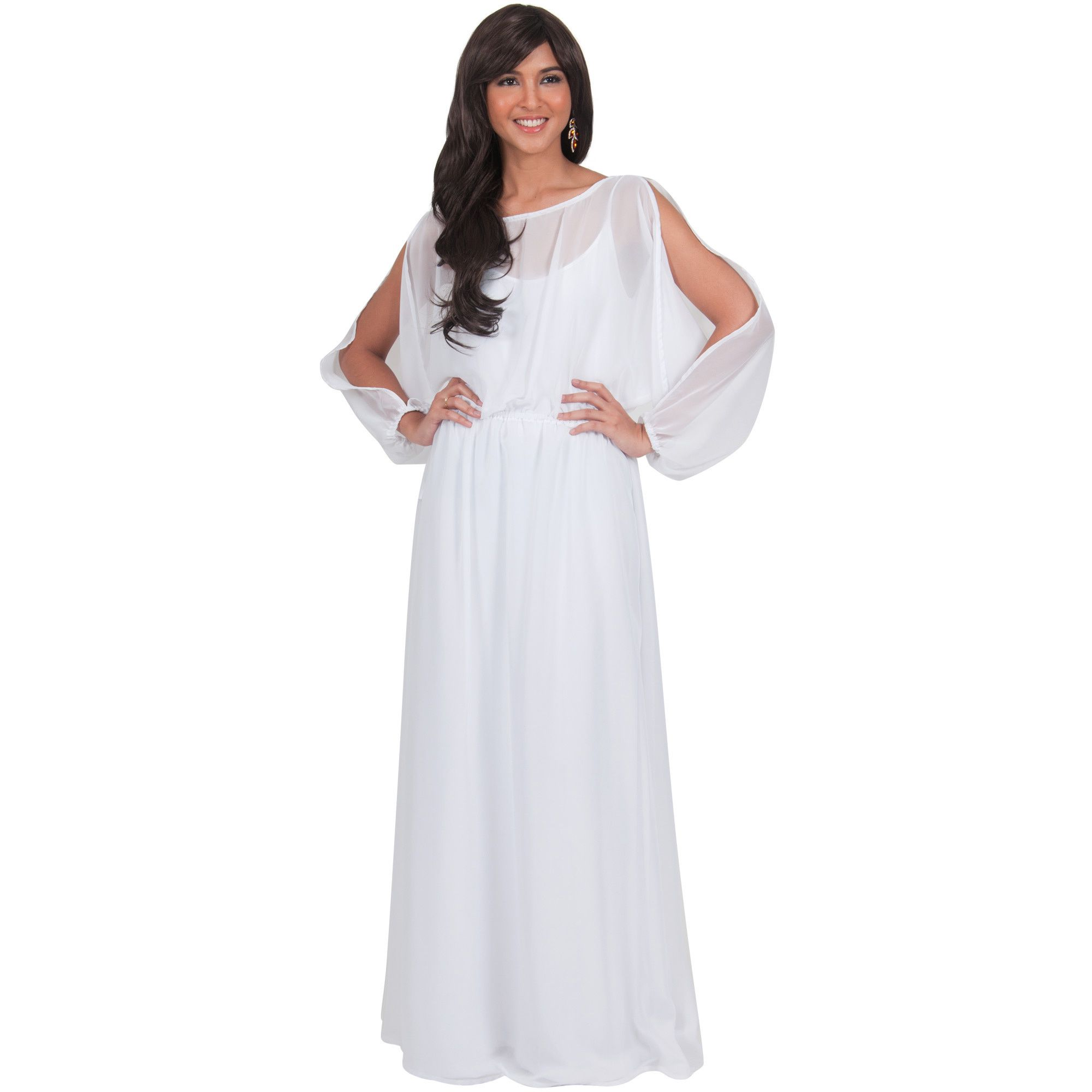 6d742298b3 Make A Stunning Entrance In This Geous Formal Maxi Dress With Long Sleeves  And Stylish
