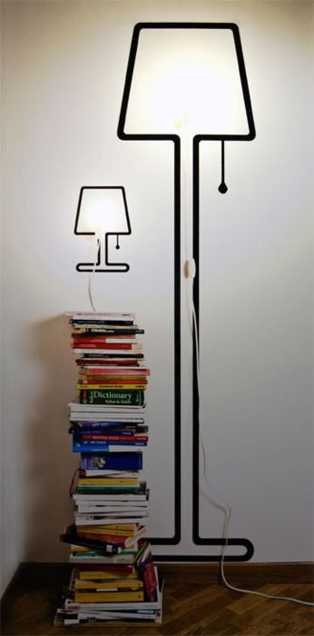 Lamps that double as wall art.