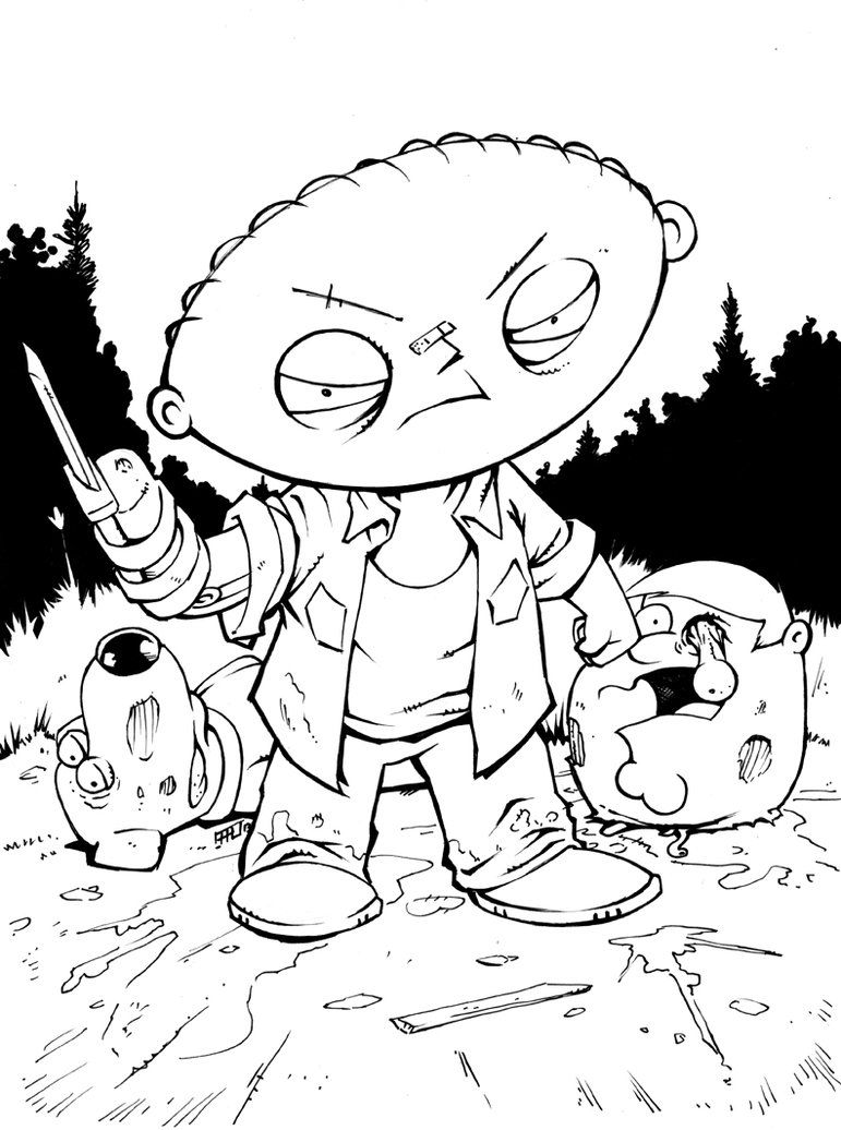 Stewie Griffin as Merle Dixon - The Family Guy + The Walking Dead ...
