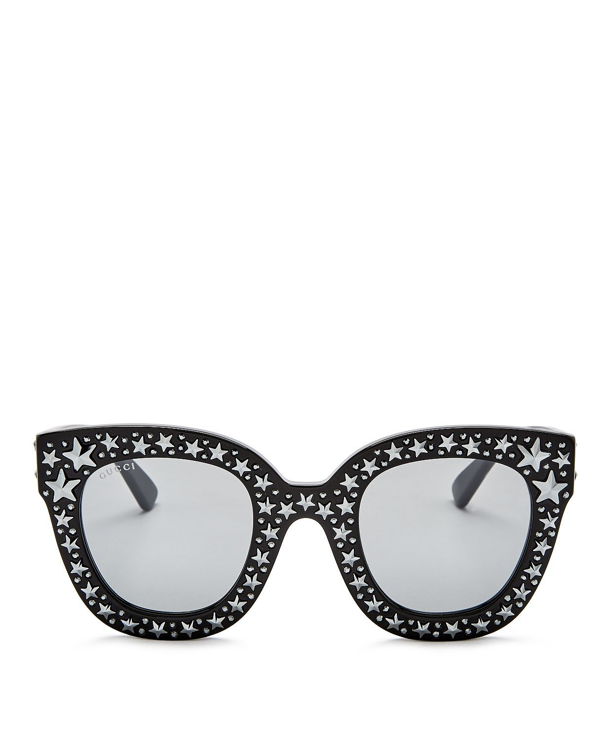 Gucci Oversized Swarvoski Stars Cat Eye Sunglasses, 50mm | Bloomingdales's