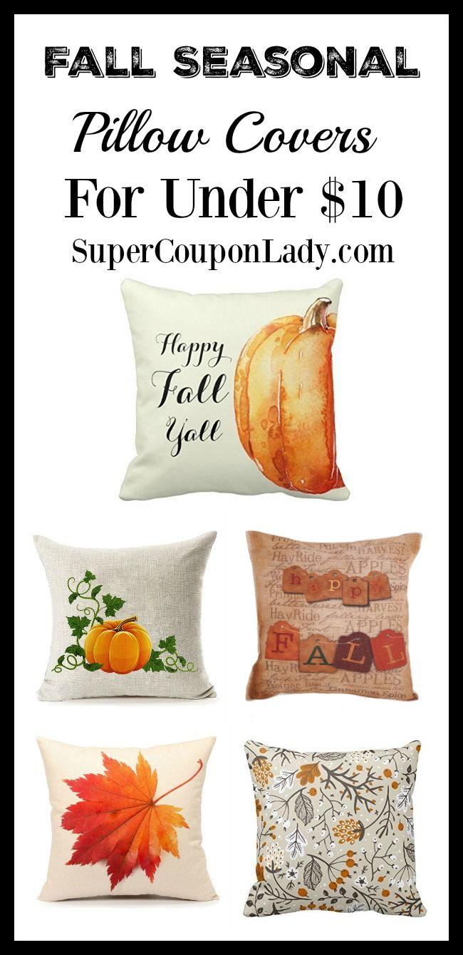 Fall Seasonal Pillow Covers For Under 10 Seasonal