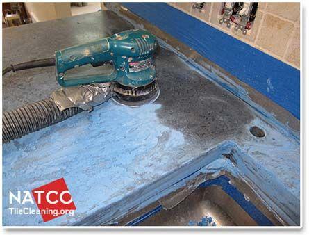 Sanding Down Concrete Countertop Cement