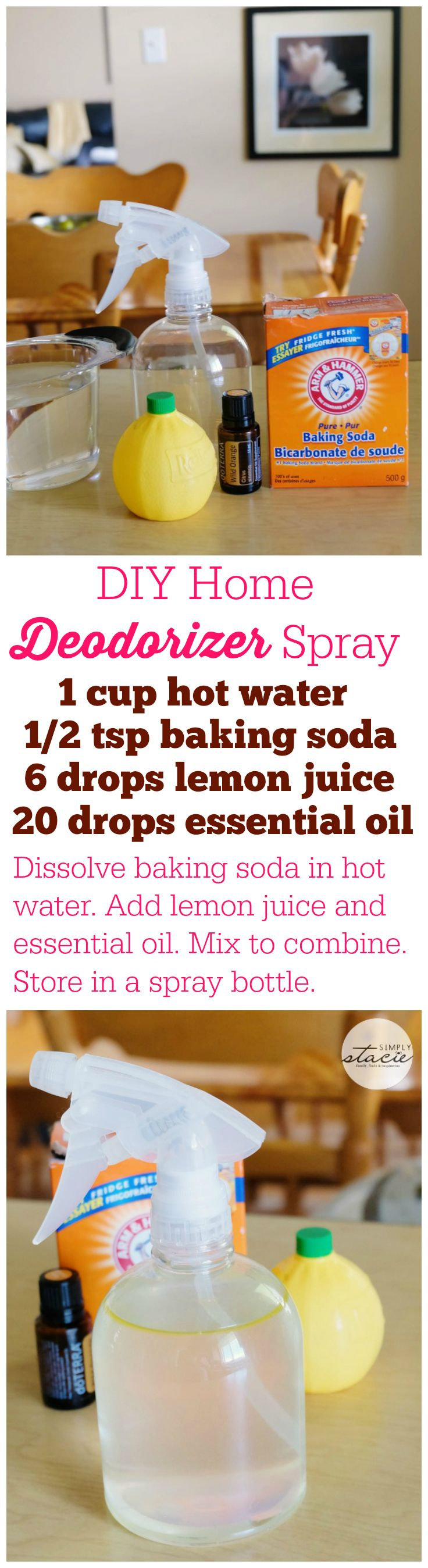 Diy Home Deodorizer Spray Diy Cleaning Products Cleaning Recipes Cleaning Hacks