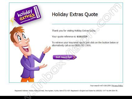 Company Holiday Extras Subject Your Holiday Insurance Quote Inboxvision A Global Em Email Design Holiday Insurance Quotes Email Newsletter Template