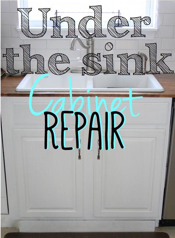 Replacing The Under Sink Cabinet Floor Under Kitchen Sinks Sink Cabinet Kitchen Cabinets Repair