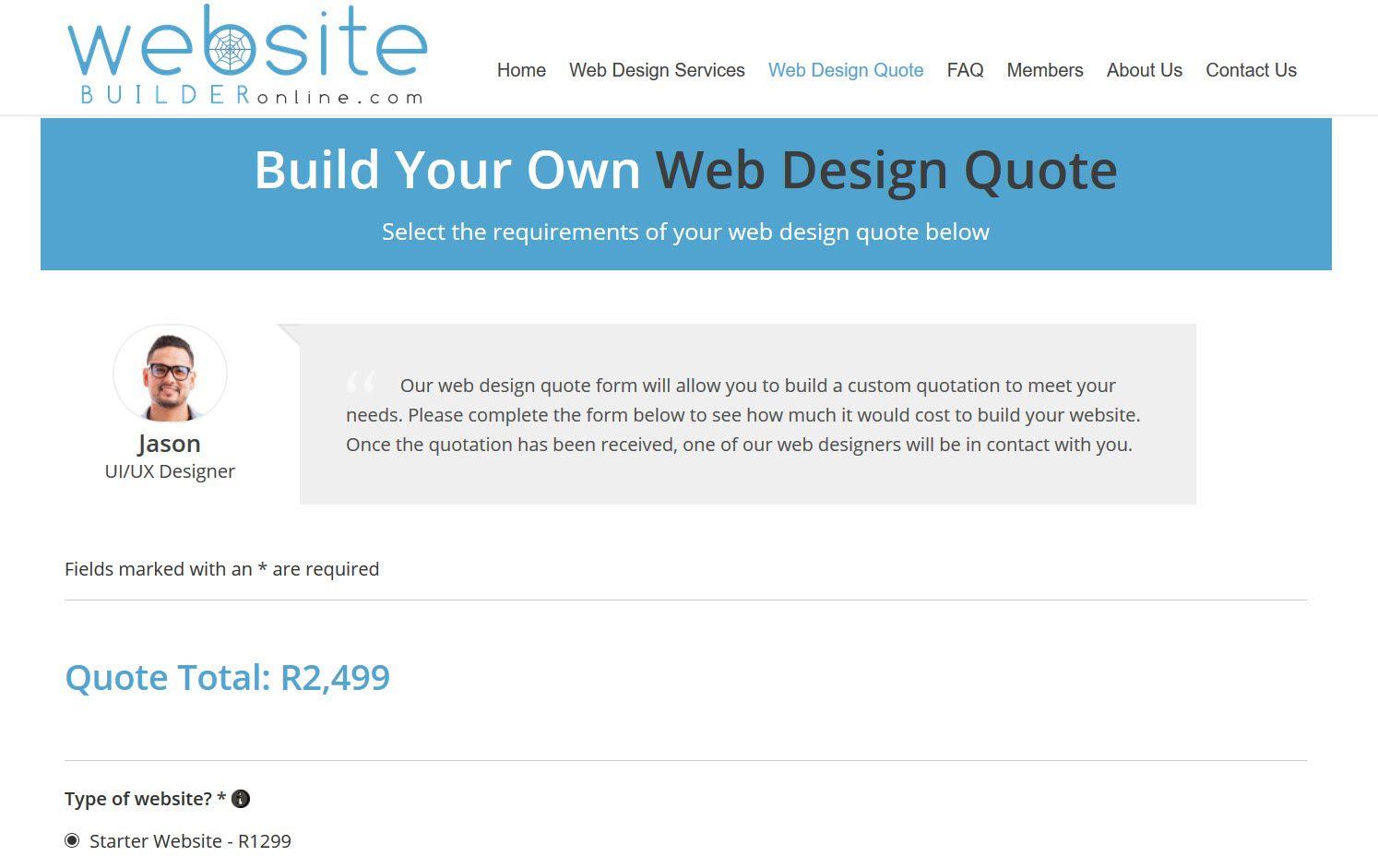 Web Design Quotation Template In 2020 Web Design Quotations Quotation Template Word