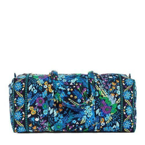 0e248282a232 New Vera Bradley XL Extra Large Duffel Bag Travel Midnight Blues   VeraBradley