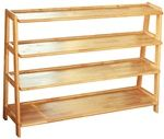 Montessori Materials Four Tier Wooden Shelf #meubleachaussuresentree