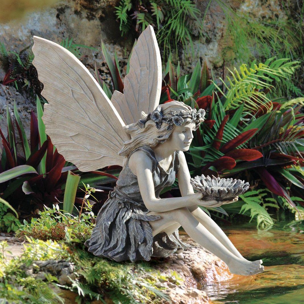Sunflower Fairy Garden Statue Garden Statues Fairy Garden Fairy Statues
