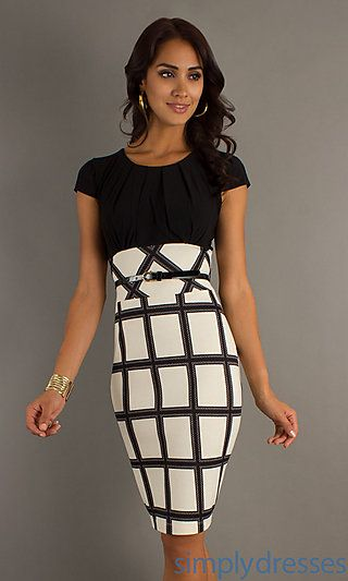 b58c2564a53d Short Cap Sleeve Dress with Print Skirt by Jump at PromGirl.com ...