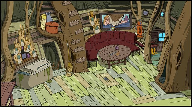 Treehouse Interior Adventure Time Wallpaper Adventure