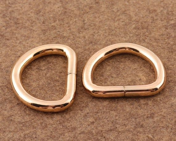 """25mm 1/"""" Metal Welded D Ring Buckles Hand Bag Luggage Leather Craft DIY Craft"""