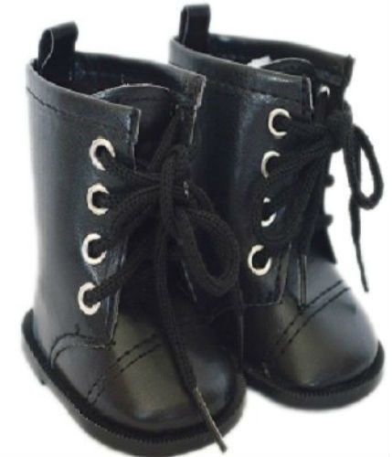 Black Tie Doll Boots For 18 Inch American Girl Dolls