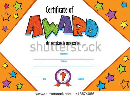 Template Child Certificate To Be Awarded Kindergarten Preschool - fun voucher template
