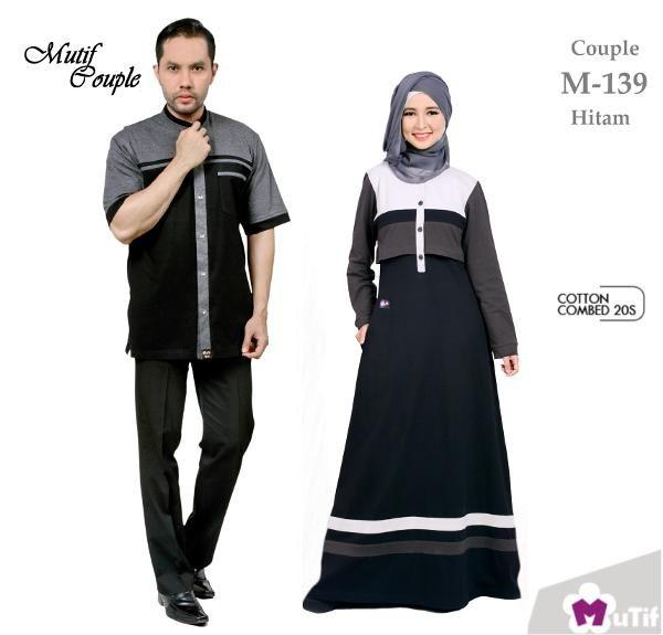 Muslim · Islam · Jual beli Sarimbit Mutif Couple Model M-139 Hitam di Lapak  Aprilia Wati - agenbajumuslim d331fc1cec