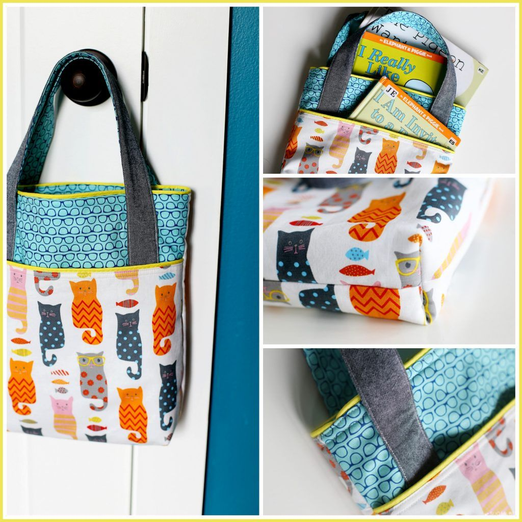 Pocket Tote, Library Bag | Nähen
