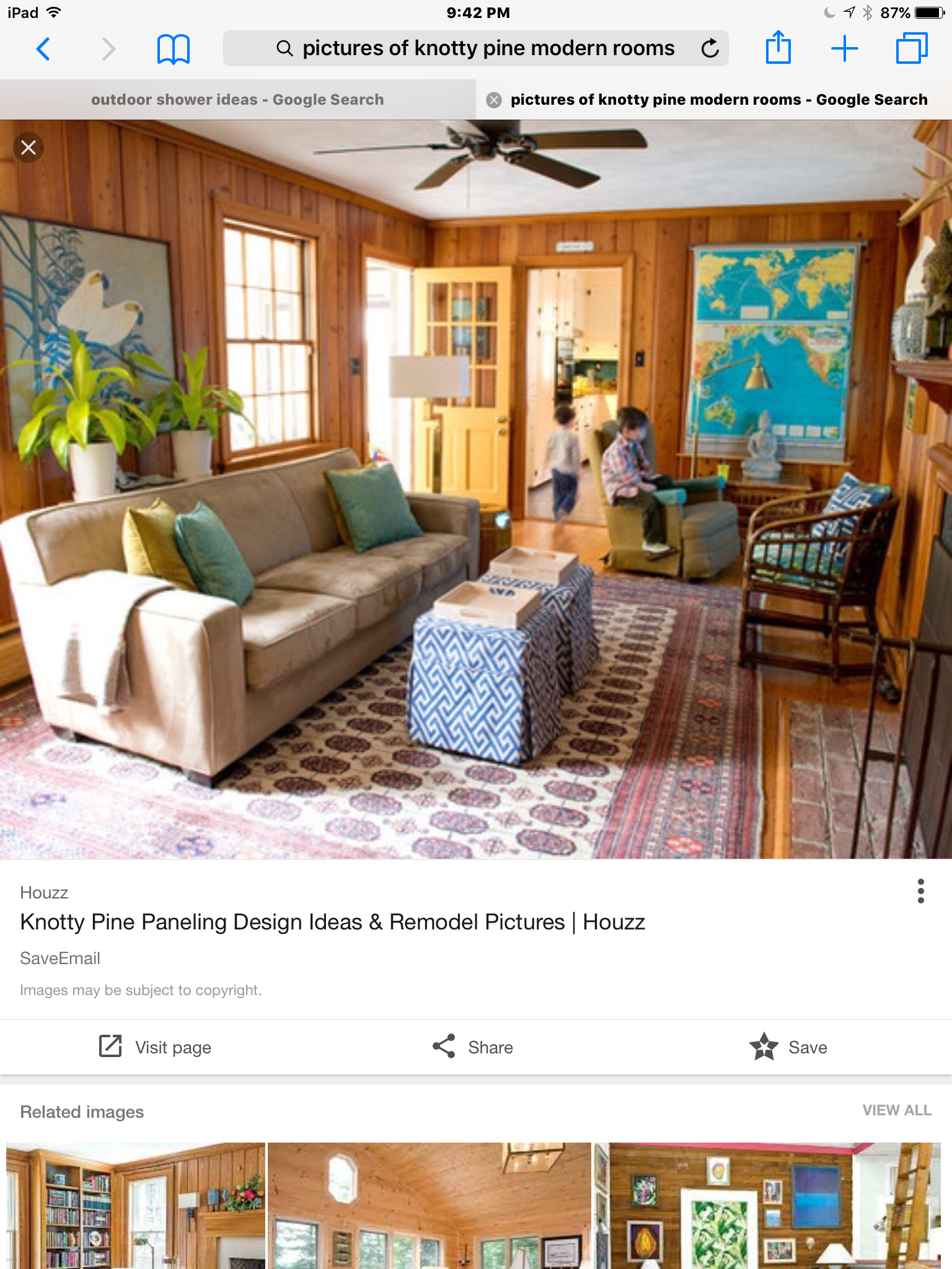 Knotty Pine Rooms: Wood Paneling Living Room By Angela French On Living Room
