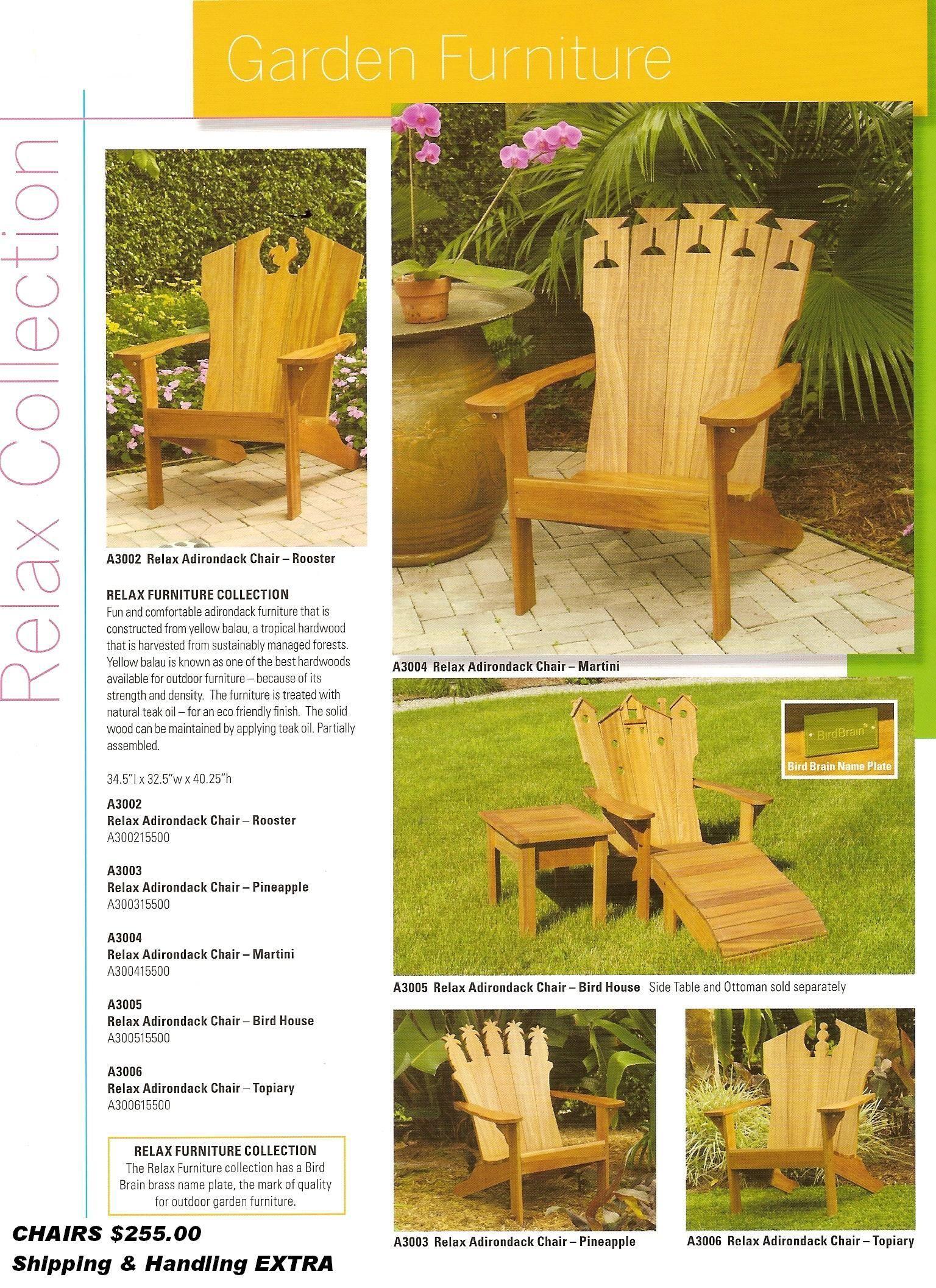 Adirondack Furniture Plus Other Outdoor