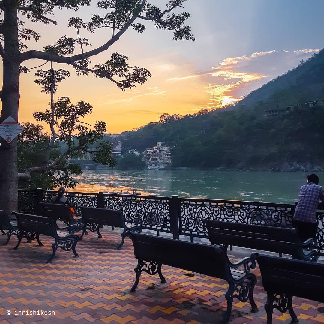 """@inrishikesh on Instagram: """"Sunset 🔥 Rishikesh Vibes . . . #rishikesh #yogaeveryday #CNTGiveItAShot #NGTIndia #LonelyPlanetIndia #lpmi #OutlookTraveller #lpfanphoto…"""""""