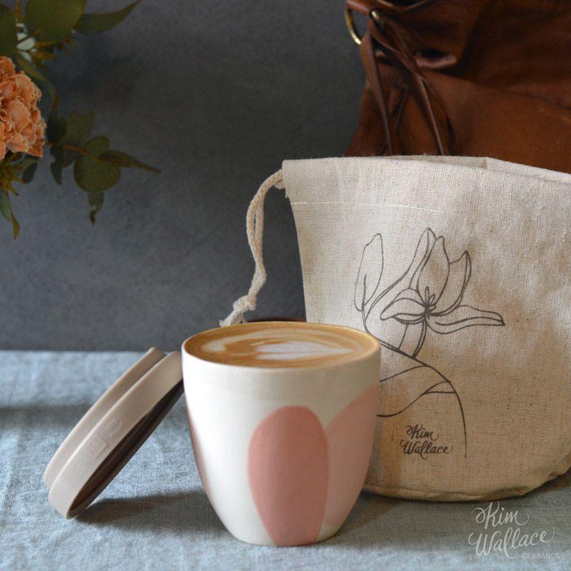 Waterproof linen pouch for takeaway cups | Take away cup ...