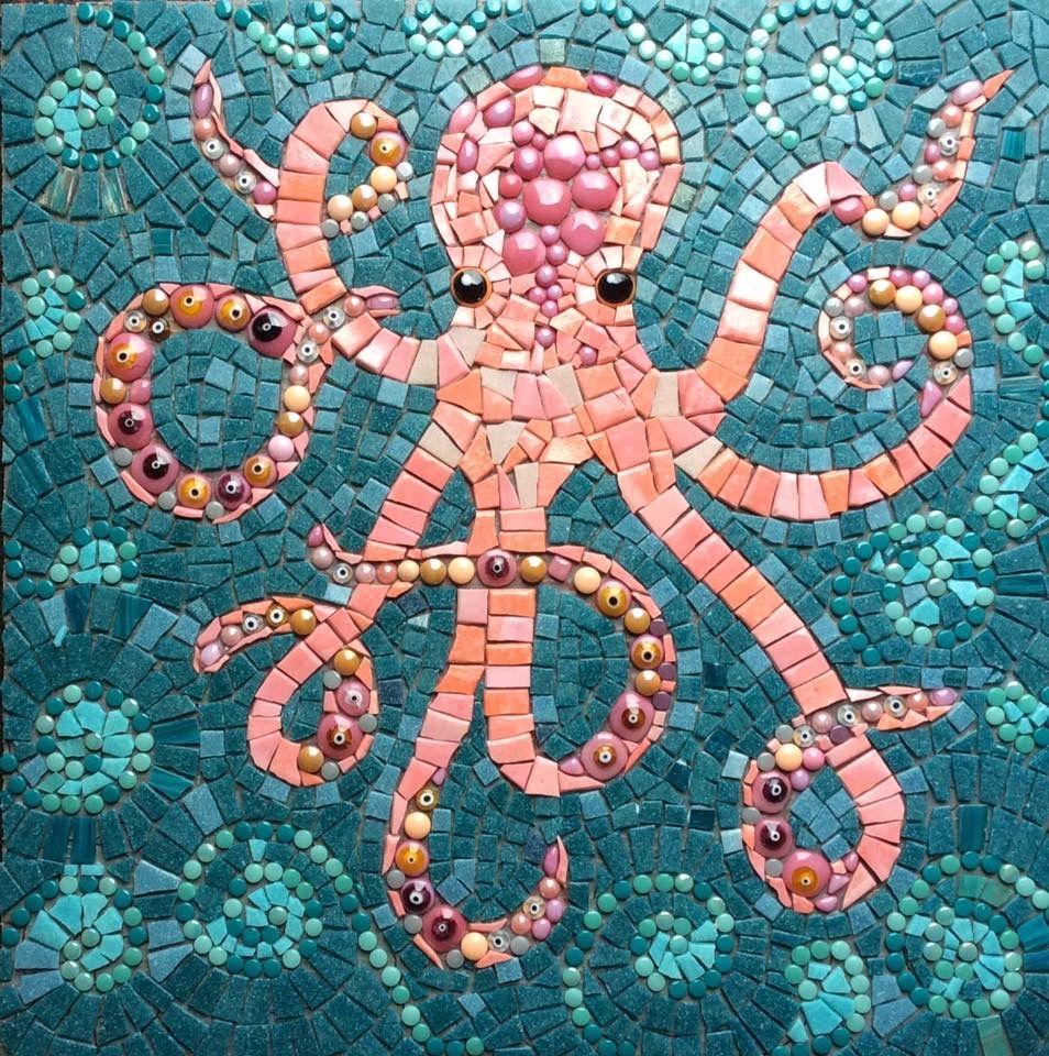 mosaic octopus mosaic glass