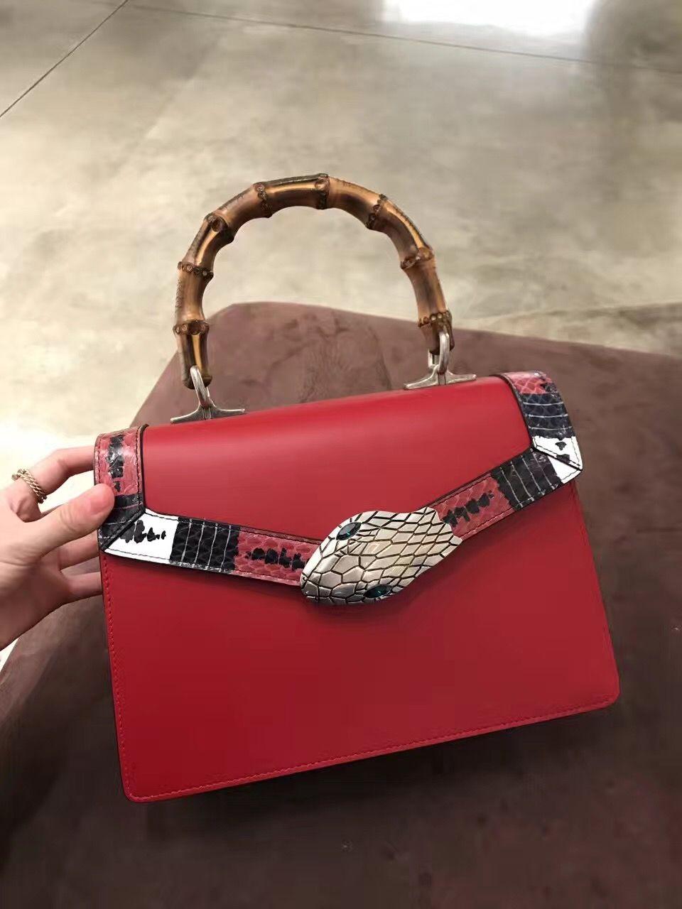 b5f8078b2e2 Gucci snake head bamboo handle bag 453750 #gucci #handle # bag #453750  #bamboo