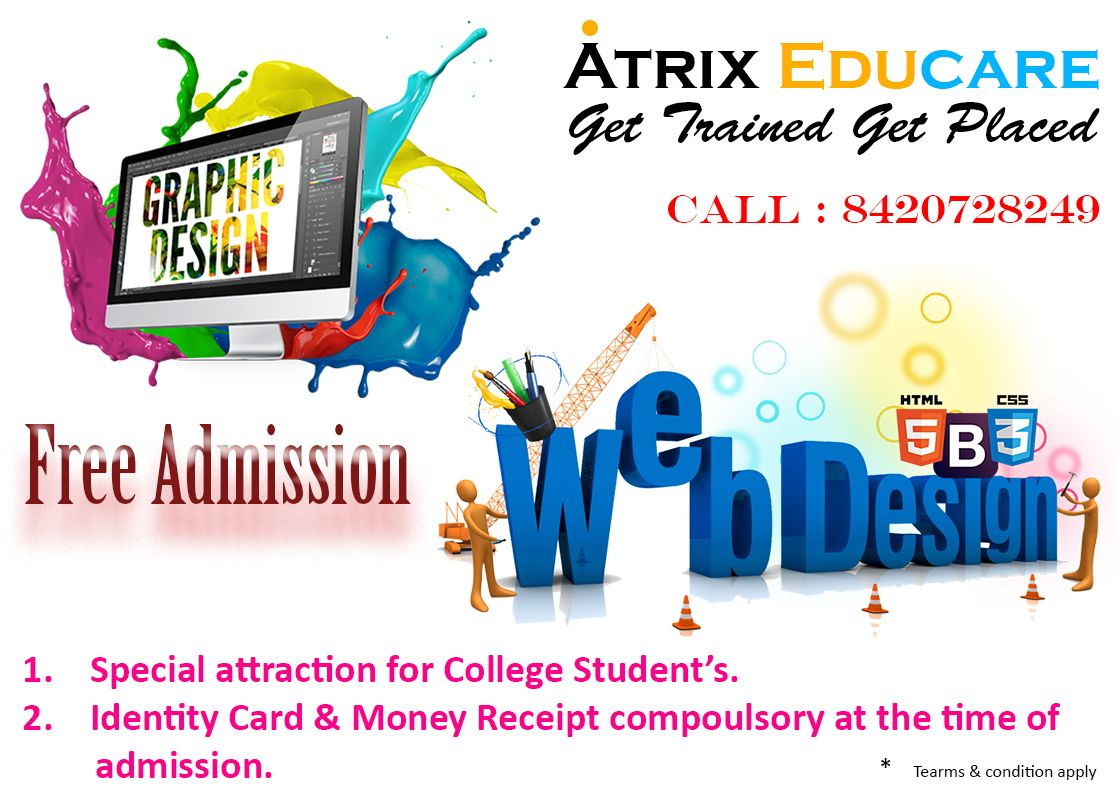 Best Opportunity For College Students Learn Web Design Free Of Cost Atrix Educare Free Web Design Course I Learn Web Design Web Design Course Free Web Design