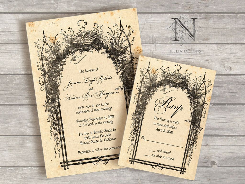 Rustic Wedding Invitations Vintage Storybook Cover For Your Fairy Tale 3 75