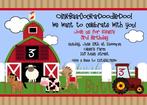 Farm Birthday Invitations Photo New Invitations – Barnyard Birthday Invitations
