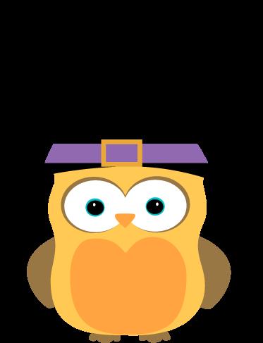 Owl halloween. Witch art cute clip