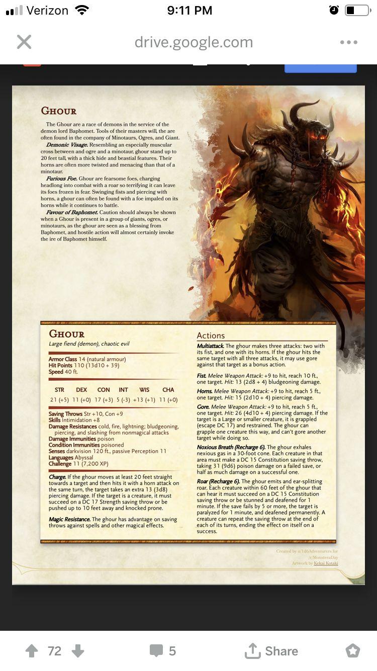 Baphomet 5e : baphomet, Chosen, Baphomet, Dragons,, Dungeons, Dragons, Rules,, Homebrew