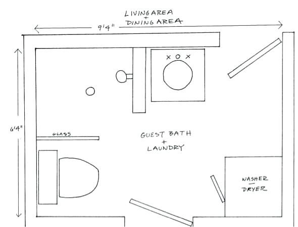 image result for small bathroom with laundry small on combined bathroom laundry floor plans id=28776